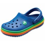 Slapi Crocs CB Rainbow Band Clog K Albastru 19 (115 mm - C4)