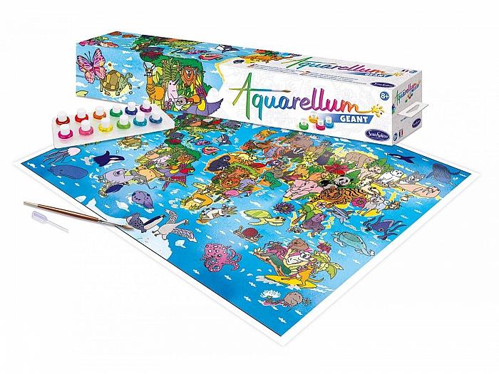 Set creativ Aquarellum Gigant harta lumii