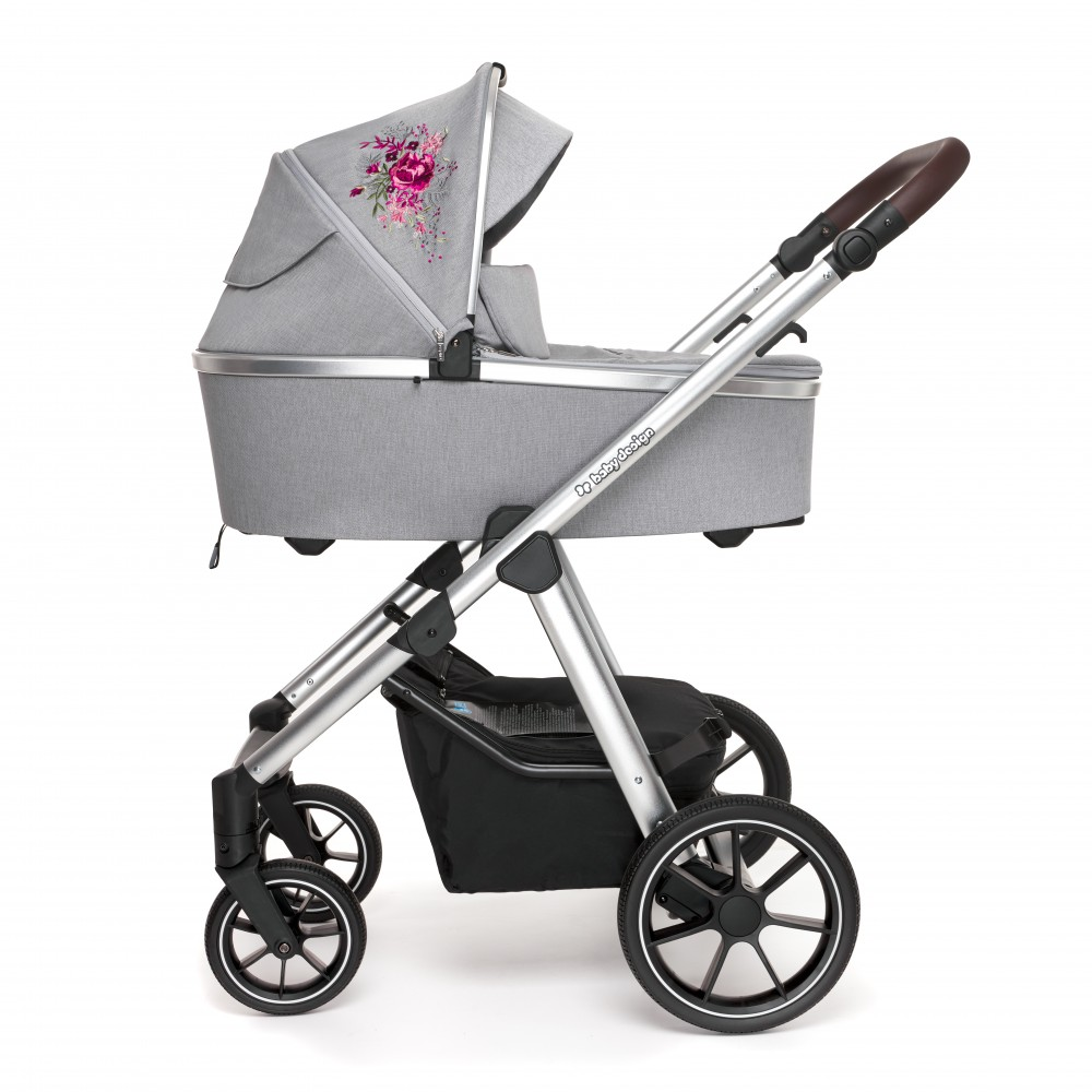 BABY DESIGN Carucior multifunctional 2 in 1 Baby Design Bueno 107 Gray Peony 2020