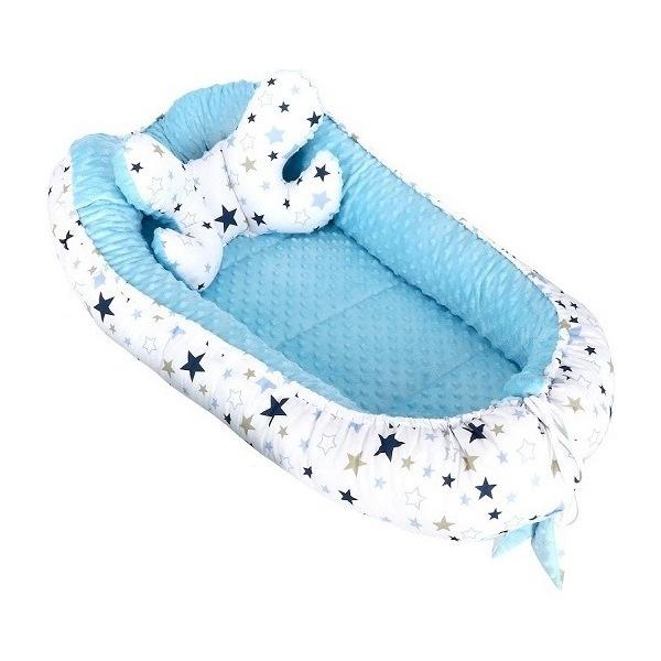 Babynest Minky Infantilo stelute albastre