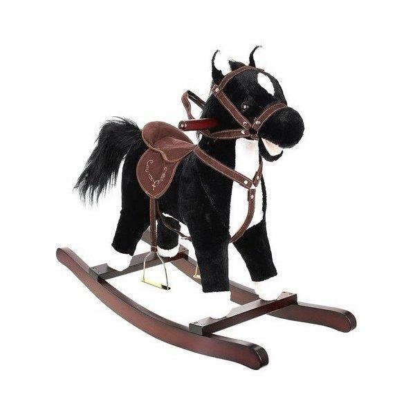 Balansoar cal mare interactiv negru xxl Kruzzel