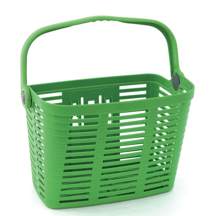 Cos pentru bicileta plastic Bellelli Plaza verde