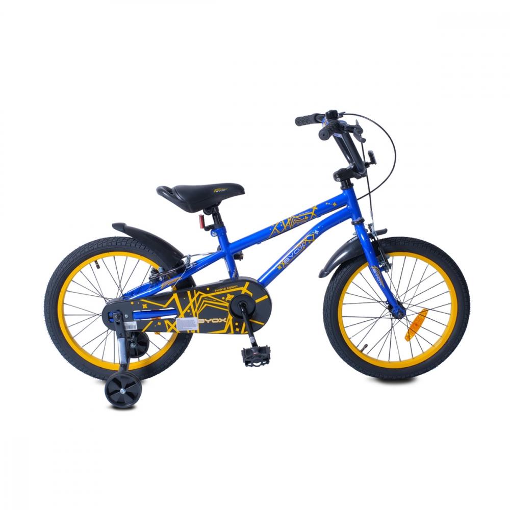 Bicicleta cu roti ajutatoare Byox Pixy Blue 18 inch