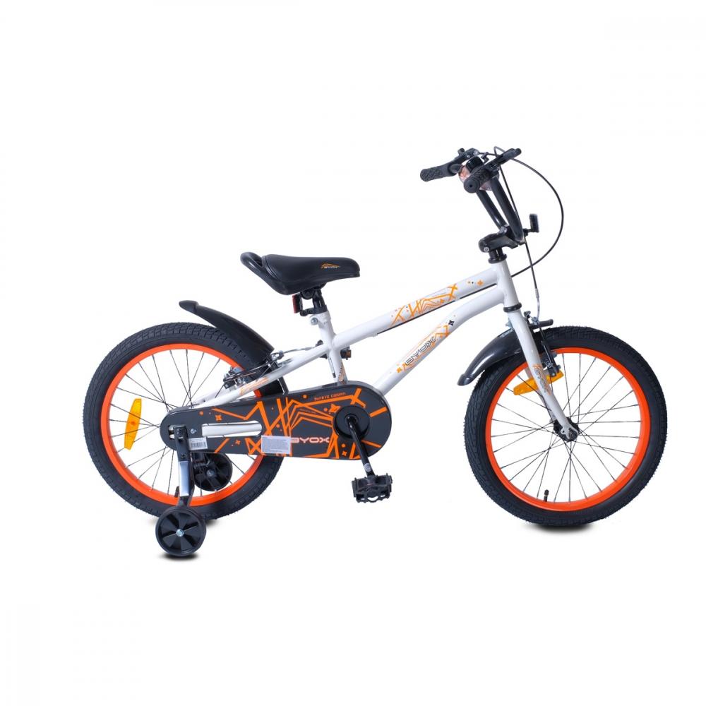 Bicicleta cu roti ajutatoare Byox Pixy White 18 inch