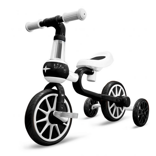 Bicicleta cu roti ajutatoare Ecotoys LC-V1311 alb cu negru