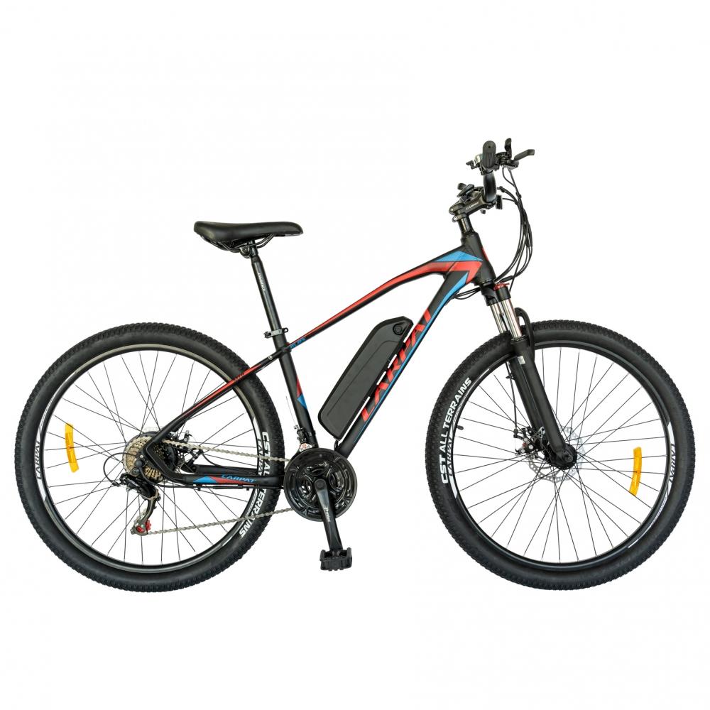 Bicicleta electrica Mtb Carpat 27.5 C1009 cadru aluminiu 21 viteze culoare negrurosu