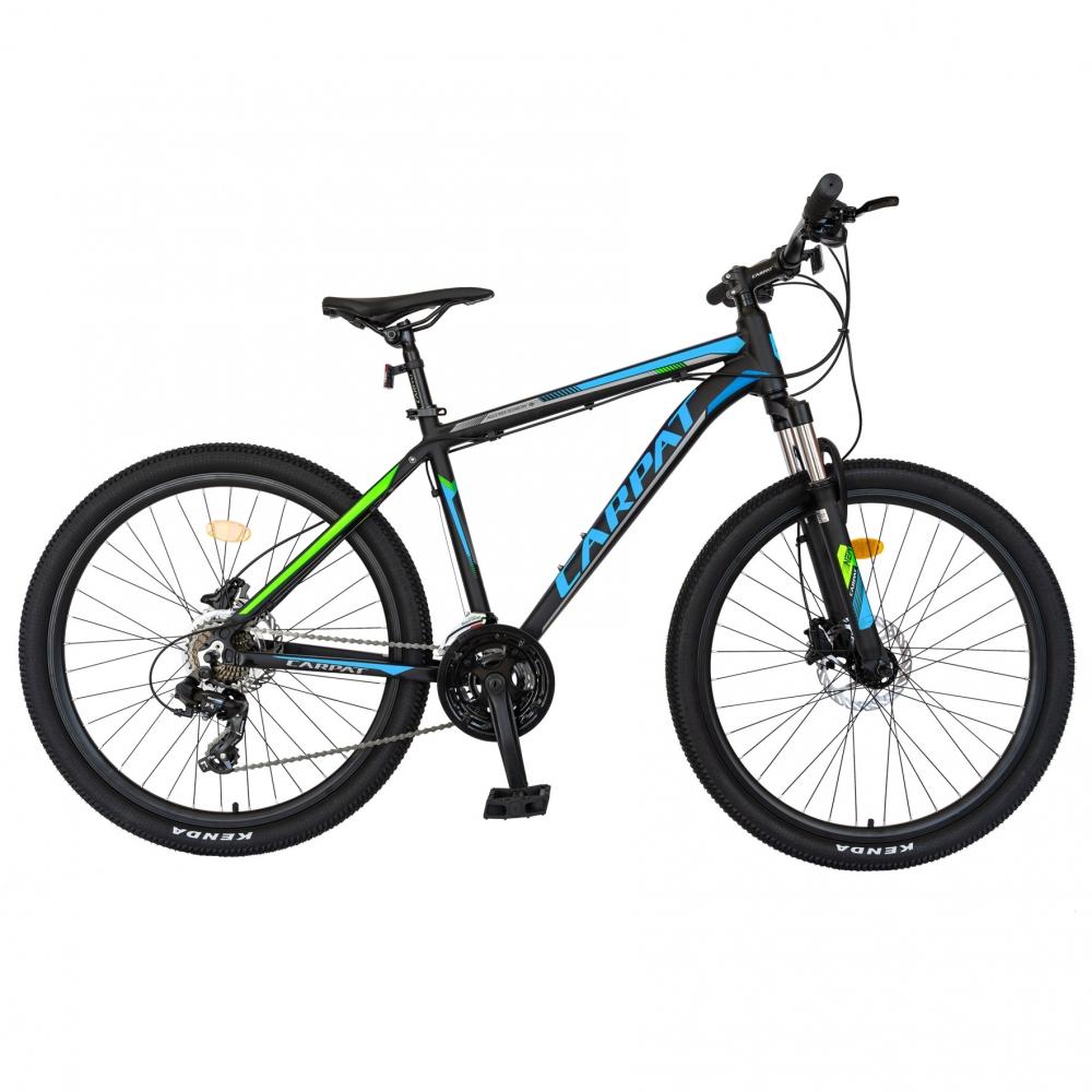 Bicicleta hidraulica MTB-HT Carpat C2681H 26 frane hidraulice disc negrualbastru