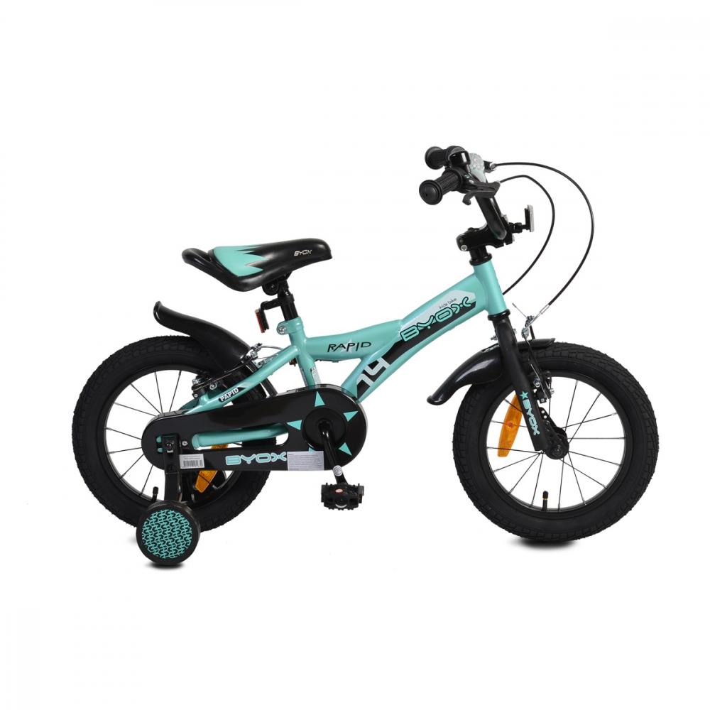 Bicicleta pentru copii Byox Rapid 14 inch Turquoise New imagine