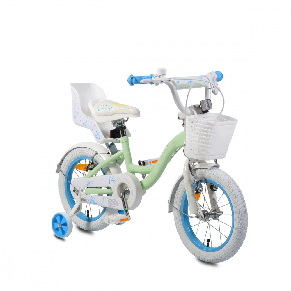 Bicicleta pentru fetite Byox Flower 14 Turquoise
