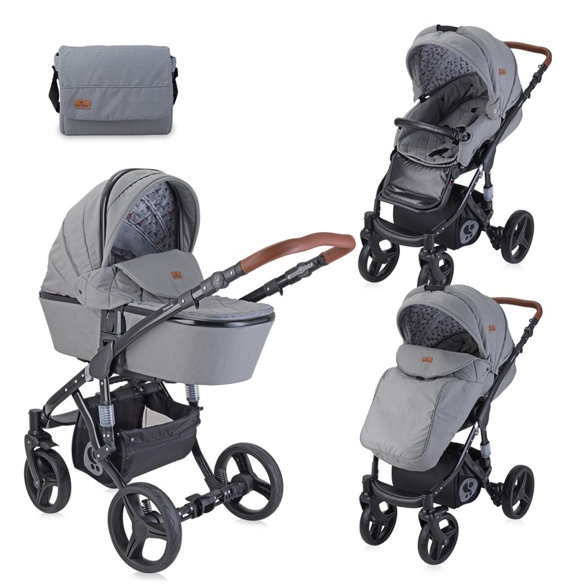 Carucior 2 in 1 Rimini Dark Grey Black Lighthouse