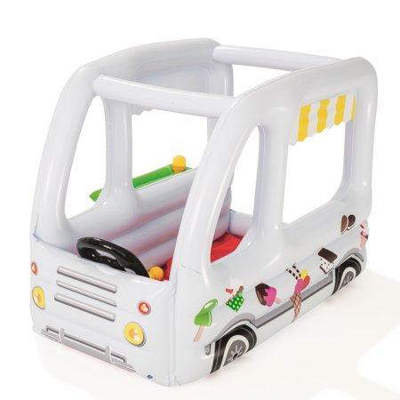 Centru de joaca gonflabil cu 10 bile masinuta de inghetata imagine