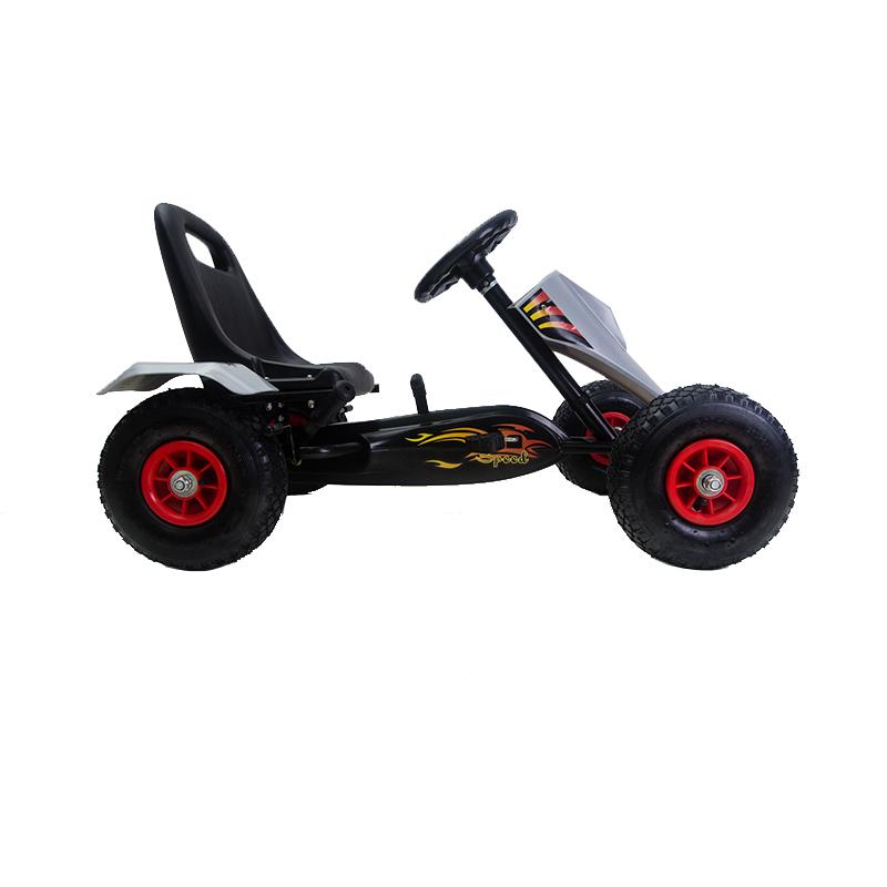 Kart Cu Pedale Si Roti Gonflabile Full Speed Grey
