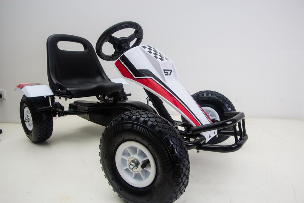 Kart cu pedale si roti gonflabile Full Speed White imagine