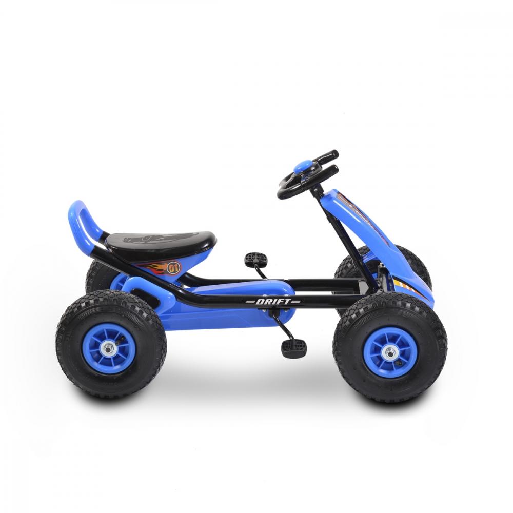 Kart cu pedale si roti gonflabile Moni Drift Air Blue imagine