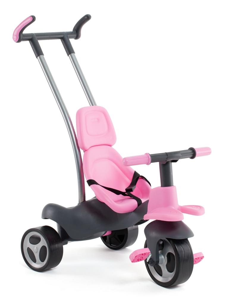 Tricicleta de oras 5 in 1 Roz cu geanta Molto imagine