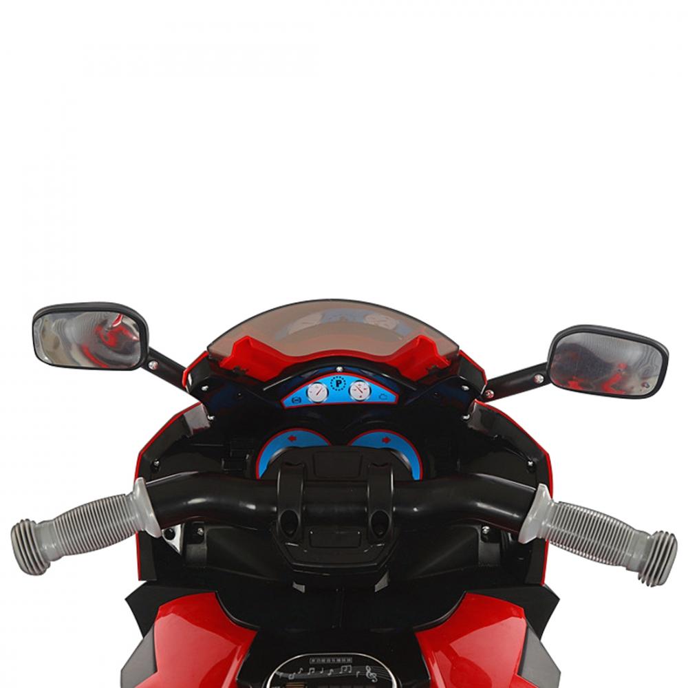 Motocicleta electrica 6V cu lumini LED Karachi Red imagine