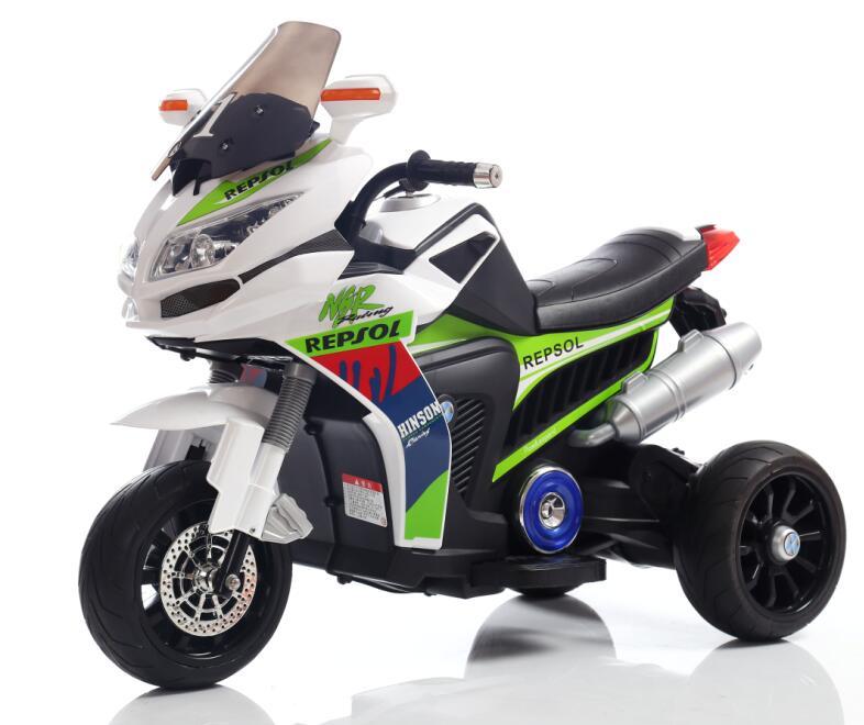Motocicleta electrica cu lumini Flash Blue