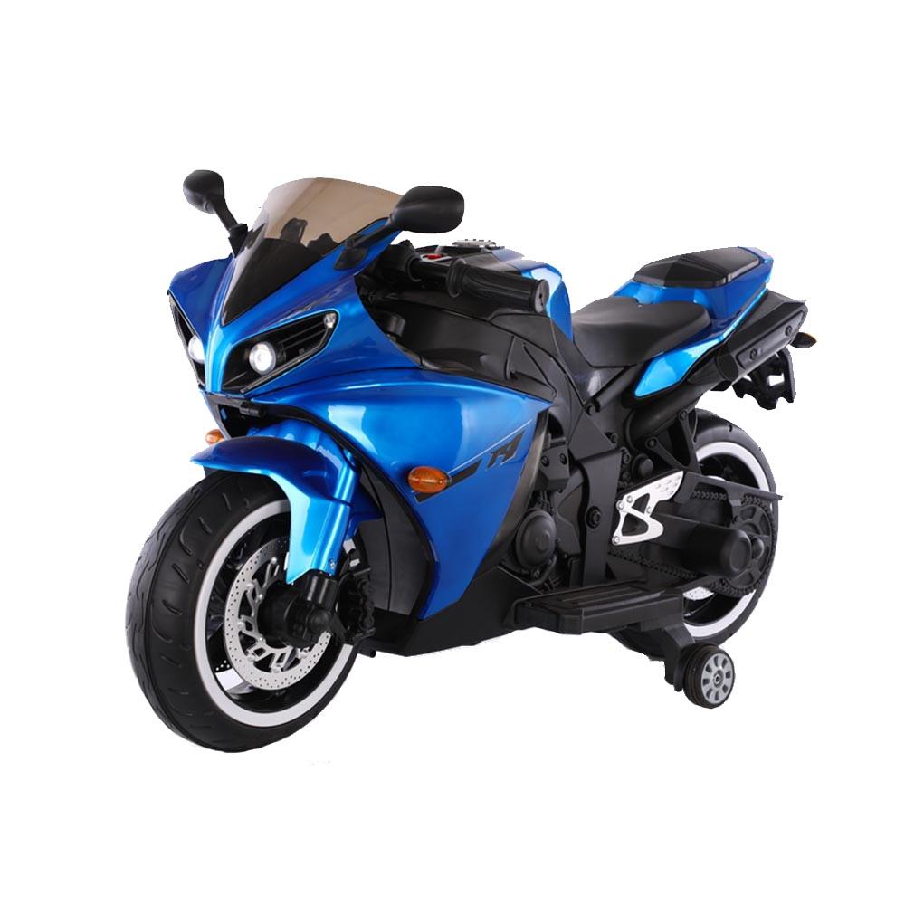 Motocicleta electrica cu roti ajutatoare Aspen Blue