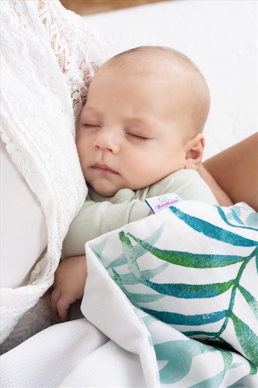 Paturica bebelusi cu doua fete 75x100 cm Velvet Eucalipt 05
