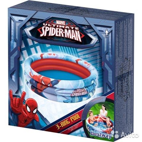 Piscina Spider-Man cu 3 inele 122 x 30 cm imagine