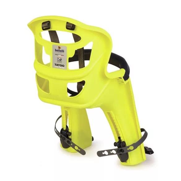 Scaun bicicleta pentru copii Bellelli Tatoo Plus Handlefix Hi-Viz yellow