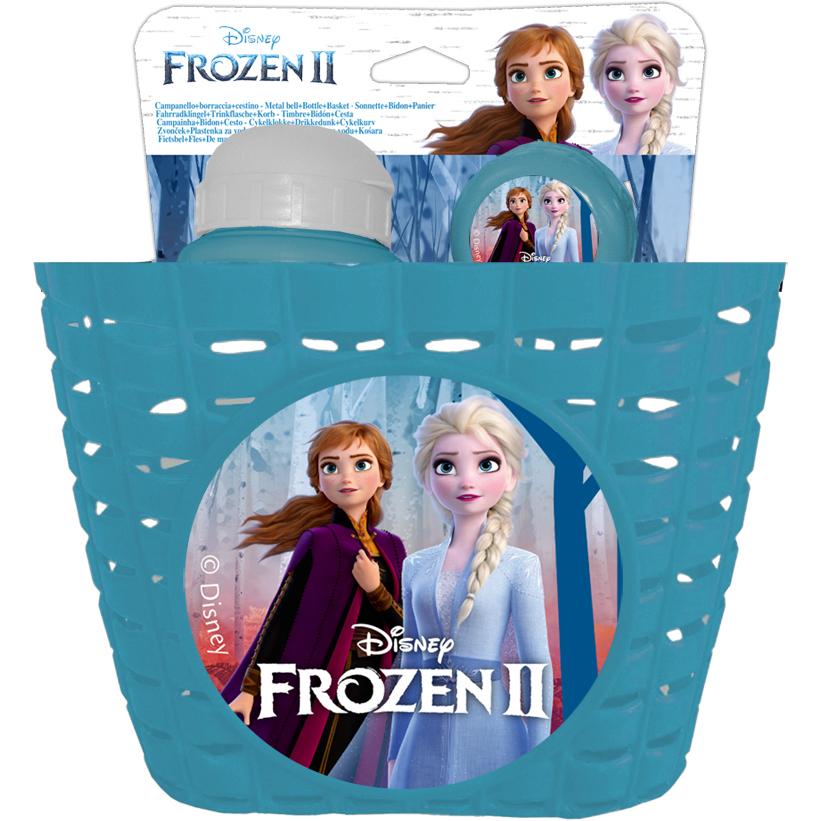 Set sticla apa, sonerie si cos bicicleta Frozen 2 Disney