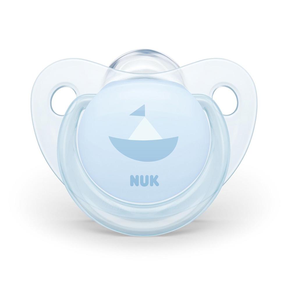 Suzeta Nuk Baby blue silicon M1 barcuta 0-6 luni