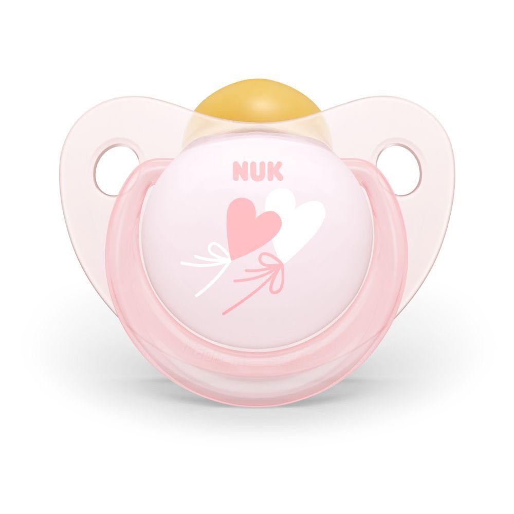 Suzeta Nuk Baby Rose latex M2 love 6-18 luni imagine