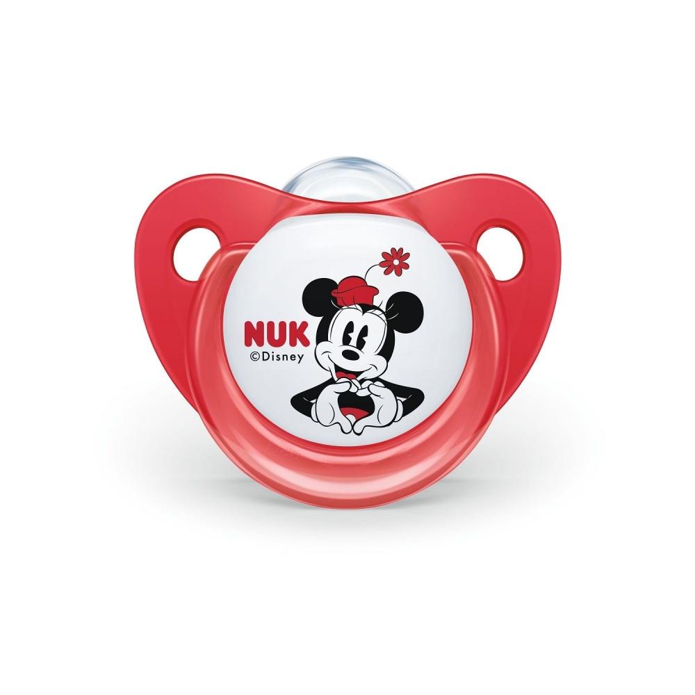 NUK Suzeta Nuk Mickey silicon M1 rosu 0-6 luni