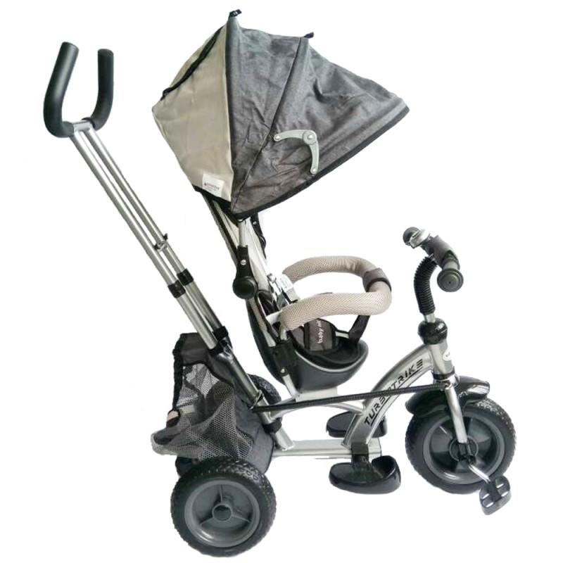 Tricicleta cu sezut reversibil Sunrise Turbo Trike Gri imagine