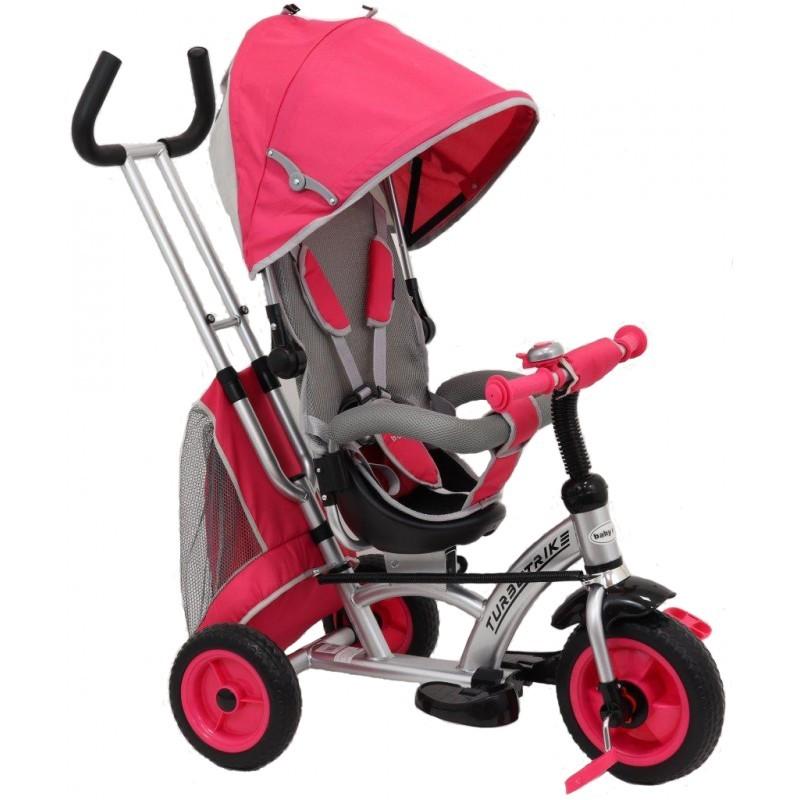 Tricicleta cu sezut reversibil Sunrise Turbo Trike Pink imagine