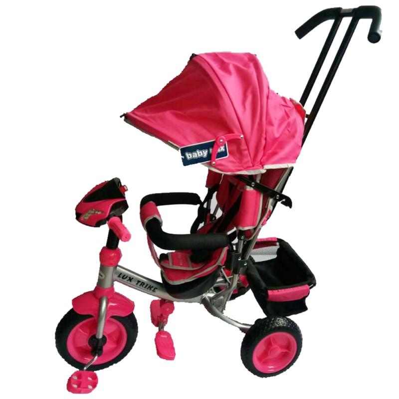 Tricicleta multifunctionala cu sunete si lumini Lux Trike Pink imagine