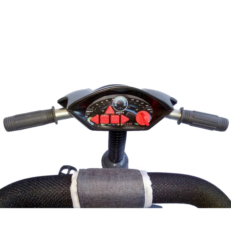 Tricicleta multifunctionala cu sunete si lumini Lux Trike dark grey imagine