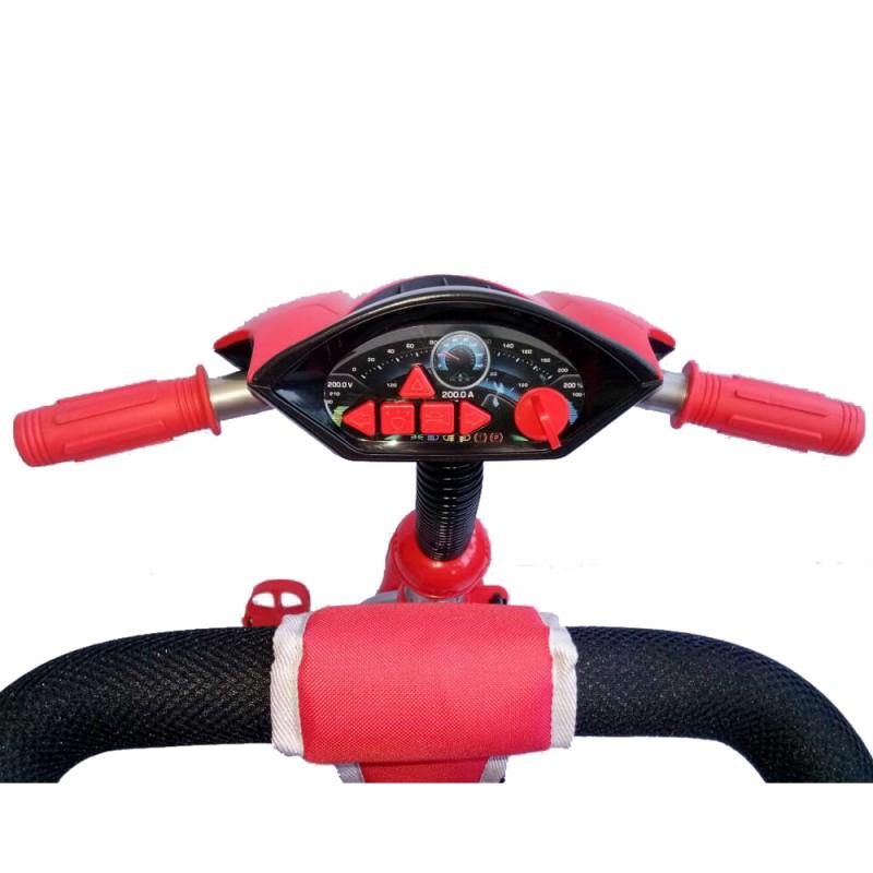 Tricicleta multifunctionala cu sunete si lumini Lux Trike red imagine