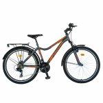 Bicicleta City Velors V2433B 24 inch 18 viteze gri/portocaliu