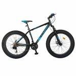 Bicicleta Fat Bike Carpat Hercules 26 C2619B frane mecanice disc negru/albastru