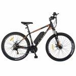 Bicicleta electrica Mtb Carpat 27.5 I1008E echipare Shimano 21 viteze negru/portocaliu