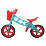 Bicicleta fara pedale pedagogica Nfun Nride pollock rosu/albastru