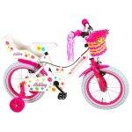 Bicicleta pentru copii 14 inch cu roti ajutatoare si frana de mana Volare Ashley 81404-IT