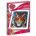 Canvas cu diamante tigru
