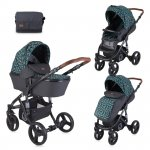 Carucior 2 in 1 Rimini Black Leaves