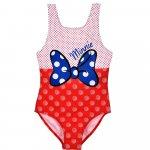 Costum baie cu fundita Minnie SunCity rosu 98 cm