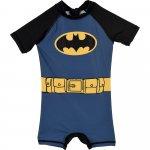 Costum de baie UV cu maneci scurte si fermoar Batman SunCity albastru 116 cm