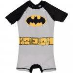Costum de baie UV cu maneci scurte si fermoar Batman SunCity gri 128 cm