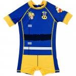 Costum de baie UV cu maneci scurte si fermoar Pompierul Sam SunCity albastru 104 cm