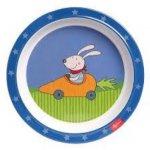 Farfurie melamina Racing Rabbit albastru