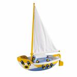 Jucarie de construit mic-o-mic 3D Barca cu vele 22 cm