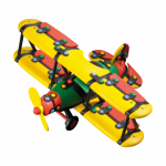Jucarie de construit mic-o-mic 3D Biplanor 25.9 cm