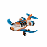 Jucarie de construit mic-o-mic 3D Business jet 14.6 cm