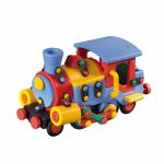 Jucarie de construit mic-o-mic 3D Locomotiva 19.1 cm